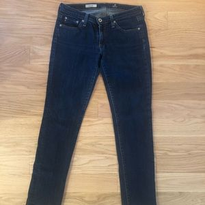 Women's AG stilt cigarette denim